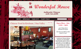 Ketchum Chinese Food - Wonderful House