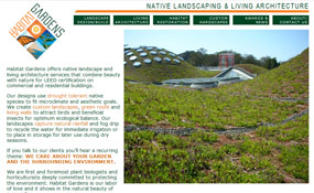 Habitat Gardens: Native Landscaping & Living Architecture