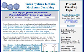 Emcon Systems: Technical Machinery Consulting – Professional Engineer